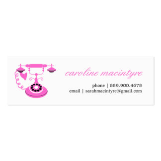 Vintage Telephone Mini Calling Cards Double-Sided Mini Business Cards (Pack Of 20)