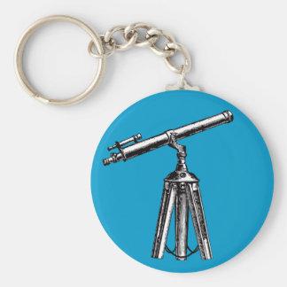 Vintage Telescope Basic Round Button Keychain