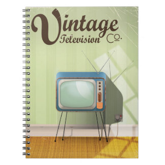 Vintage Television Co. Commercial Notebooks