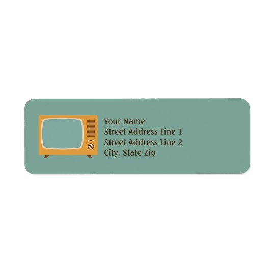 Vintage Television TV Retro Return Address Labels