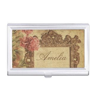 Vintage template,custom made,antique,floral,frame, business card holder