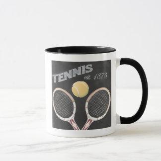 Vintage Tennis Chalkboard Design Mug