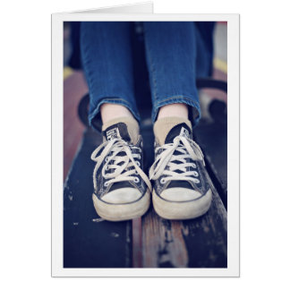 Vintage Tennis Shoes faded Card