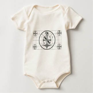 Vintage Test Pattern Baby Creeper
