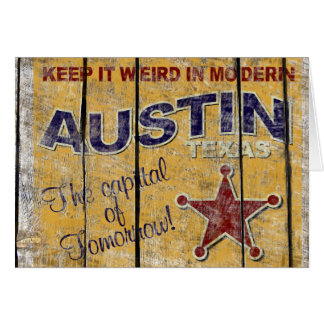 Vintage Texas - Austin Greeting Card