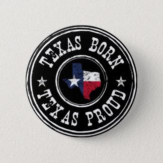 Vintage Texas born - Texas proud 2 Inch Round Button