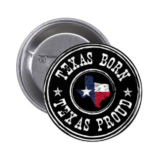 Vintage Texas born - Texas proud 2 Inch Round Button