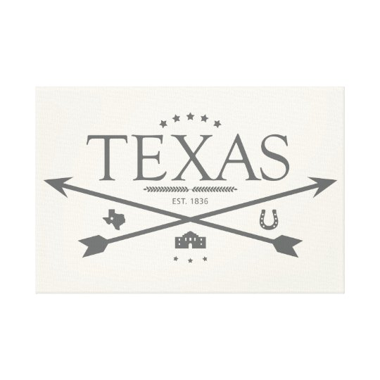 Vintage Texas Est. 1836 Canvas Wall Art