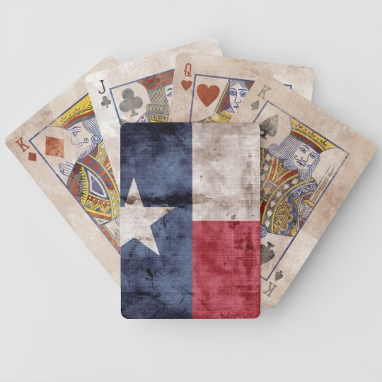 Vintage Texas Flag Playing Cards