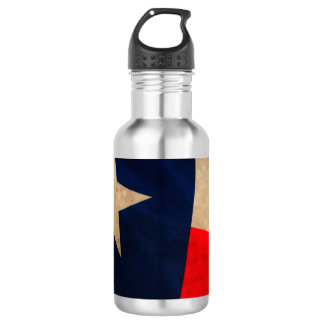 Vintage Texas Flag Stainless Steel Water Bottle