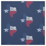Vintage Texas Flag State Outline Fabric