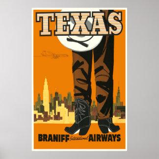 Vintage Texas Travel Poster
