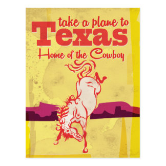 Vintage Texas Travel Poster print Postcard