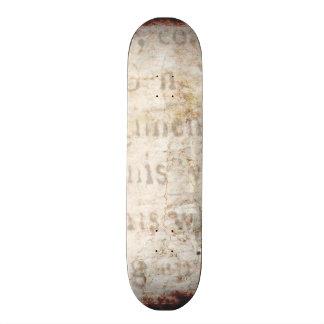Vintage Text 1700 Background Paper Template Blank Skate Board Deck