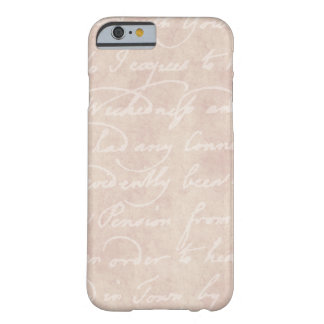 Vintage Text Colonial Script Parchment Paper Barely There iPhone 6 Case