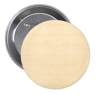 Vintage Text Colonial Script Parchment Paper Pinback Buttons