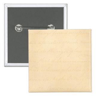 Vintage Text Colonial Script Parchment Paper Buttons