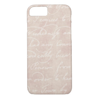 Vintage Text Colonial Script Parchment Paper iPhone 8/7 Case