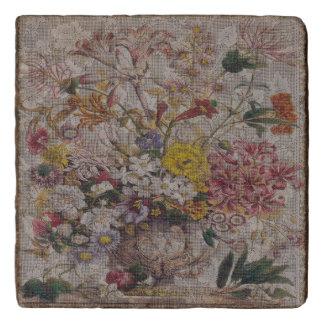 Vintage Textiles Marble Stone Trivet