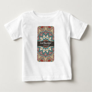 Vintage Texture Idian Colorful Design 10-01 Baby T-Shirt