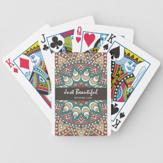 Vintage Texture Idian Colorful Design 10-01 Bicycle Playing Cards