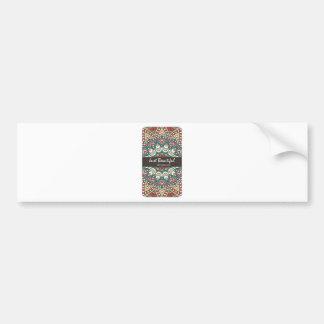 Vintage Texture Idian Colorful Design 10-01 Bumper Sticker