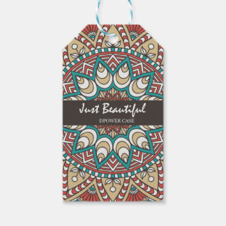Vintage Texture Idian Colorful Design 10-01 Gift Tags