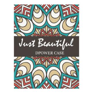Vintage Texture Idian Colorful Design 10-01 Letterhead