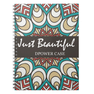 Vintage Texture Idian Colorful Design 10-01 Notebook