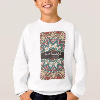 Vintage Texture Idian Colorful Design 10-01 Sweatshirt