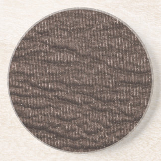 Vintage Textured Brown Leather Beverage Coasters