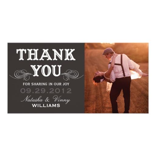 Wedding Thank You Photocard Templates, Wedding Thank You Photo ...