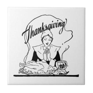 Vintage Thanksgiving Grace Tile