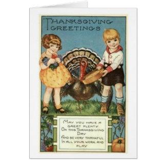 Vintage Thanksgiving Greeting Greeting Card