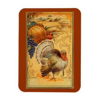 Vintage Thanksgiving Greeting Magnet