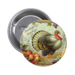 Vintage Thanksgiving Greetings Round Button