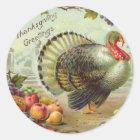 Vintage Thanksgiving Greetings Sticker
