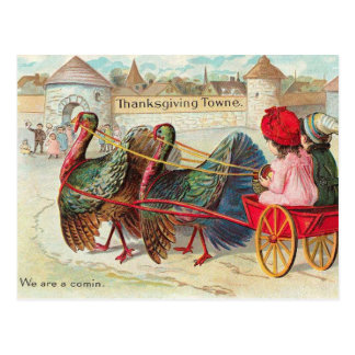 Vintage Thanksgiving Illustration Postcard