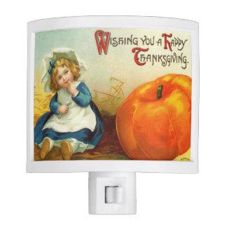 Vintage Thanksgiving Little Girl Night Light