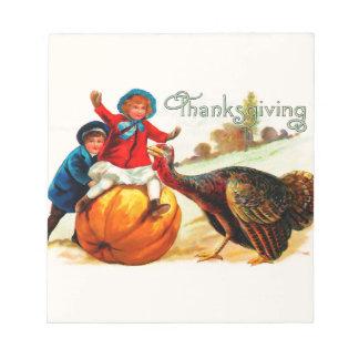 Vintage Thanksgiving Notepad