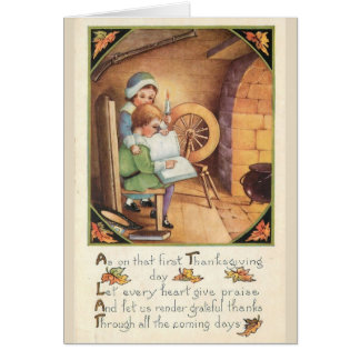 Vintage - Thanksgiving Praise and Thanks, Card