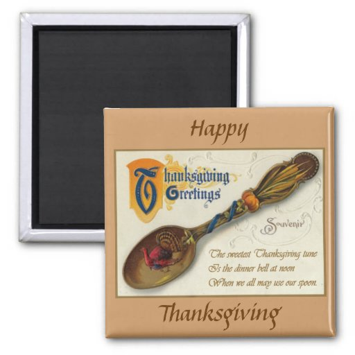 Vintage Thanksgiving - Spoon & Verse Refrigerator Magnets