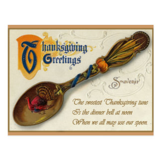 Vintage Thanksgiving - Spoon & Verse Postcard