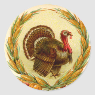 Vintage Thanksgiving Turkey Sticker