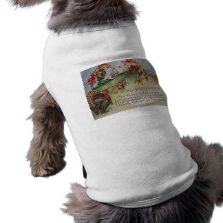 Vintage Thanksgiving - Turkey & Verse Dog Shirt