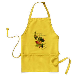 Vintage Thanksgiving-Wishes Apron