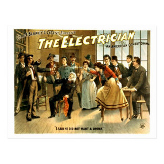 Vintage - The Electrician Postcard