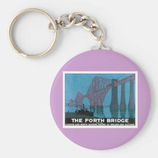 Vintage The Forth Bridge Basic Round Button Keychain