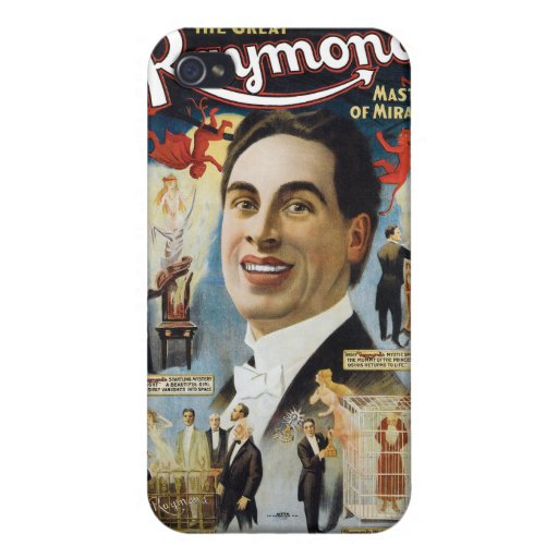 Vintage The Great Raymond, Master of Miracles iPhone 4 Cover