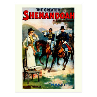 Vintage the greater Shenandoah theatre play Postcard